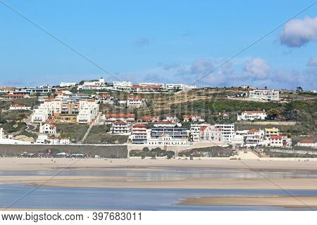 Lagoon On Bom Sucesso Beach In Portugal