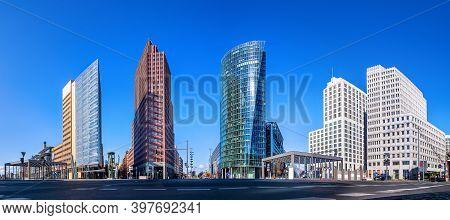 Panoramic View At The Potsdamer Platz, Berlin