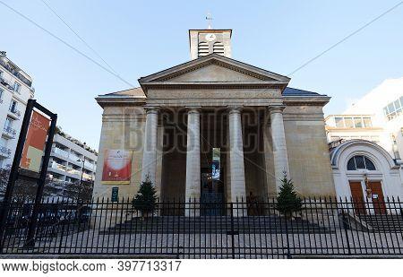 Paris, France-november 28, 2020 : The Catholic Church Of Saint-pierre Du Gros-caillou, Is A Parish C