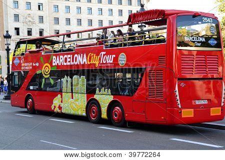 Tourist bus in Barcelona, Spain