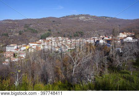 La Garganta Village View. Ambroz Valley, Caceres, Extremadura, Spain