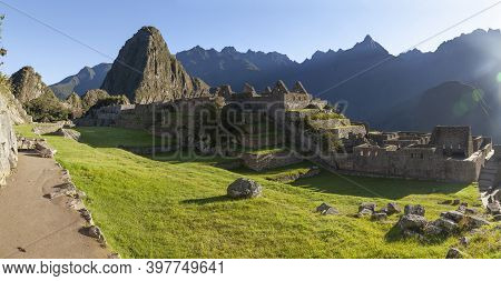 Dawns At Machu Picchu, From Main Square, Ancient Inca Town, Built Before The Fifteenth Century, Loca
