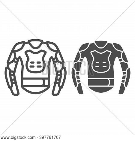 Snowboarder Protective Suit Line And Solid Icon, World Snowboard Day Concept, Snowboard Jacket Sign
