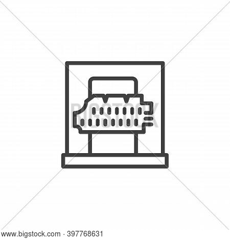 Ancient Parchment Line Icon. Linear Style Sign For Mobile Concept And Web Design. Museum Exhibit, An