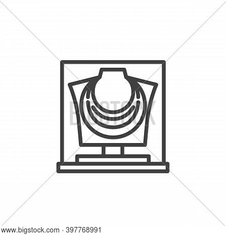 Ancient Necklace Line Icon. Linear Style Sign For Mobile Concept And Web Design. Antique Necklace Ou