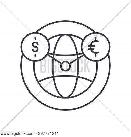 Mutual Fund Icon, Linear Isolated Illustration, Thin Line Vector, Web Design Sign, Outline Concept S