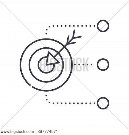Multiple Goals Icon, Linear Isolated Illustration, Thin Line Vector, Web Design Sign, Outline Concep