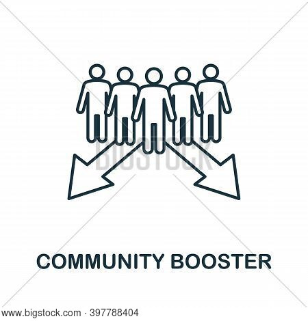 Community Booster Icon. Line Style Element From Community Management Collection. Thin Community Boos