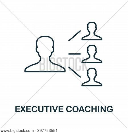 Executive Coaching Icon. Line Style Element From Community Management Collection. Thin Executive Coa