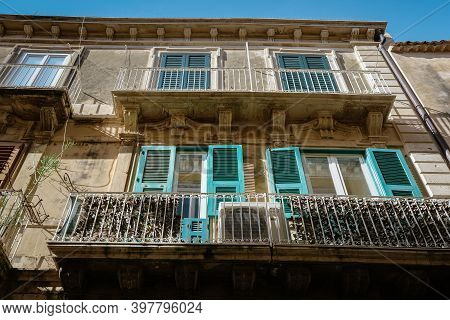 Ortigia In Syracuse Sicily Italy In The Morning. Travel Photography From Syracuse, Italy On The Isla