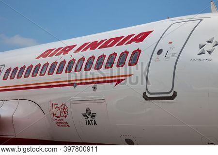 Kyiv, Ukraine - June 23, 2020: Airplane, Airbus A320-251n Air India Airlines Aircraft Vt-exh. The Pl
