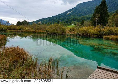Beautiful Mountain Lake In The Triglav National Park, Slovenia