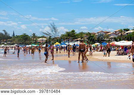 Buzios, Rio De Janeiro, Brazil - December 22, 2019: Praia Da Geriba, Buzios, Rio De Janeiro, Brazil.