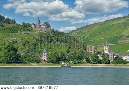 Wine Village Of Bacharach At Rhine River,germany