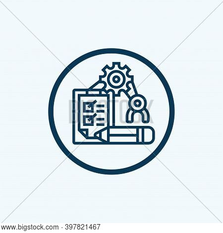 Risk Evaluation Outline Icon. Thin Line Style Icons From Insurance Icons Collection. Web Design, App