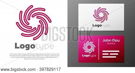 Logotype Line Tornado Icon Isolated On White Background. Cyclone, Whirlwind, Storm Funnel, Hurricane