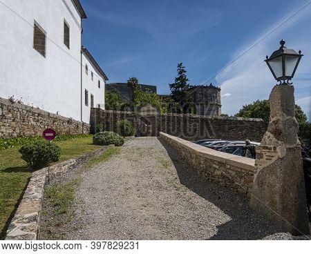 Santiago De Compostela, Spain, July 2020 - The Grounds Of The Convent Of Saint Francis, Santiago De