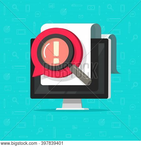 Identify Important Opinion Online Data On Document File Vector Flat Cartoon Concept, Censored Or Par