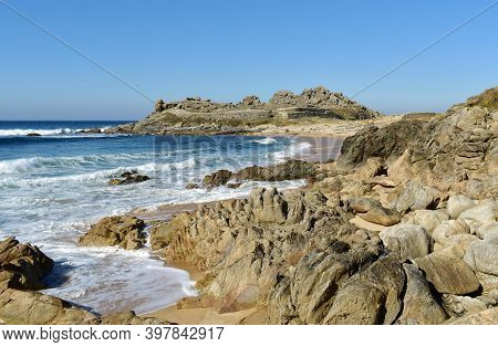 Castro De Baroña, The Best Preserved Of All Galician Iron Age Forts Known As Castros. Porto Do Son,