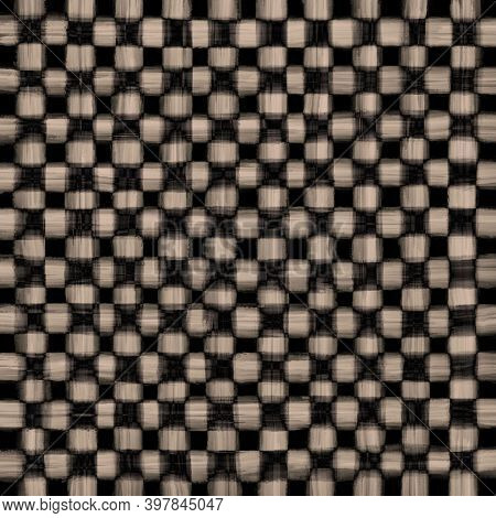 Brown Gray Black Beige Vintage Checkered Background With Blur, Gradient And Grunge Texture. Classic