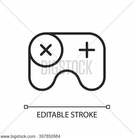 Games App Pixel Perfect Linear Icon. Gameplay Feature. Pc, Mobile And Console Games. Thin Line Custo