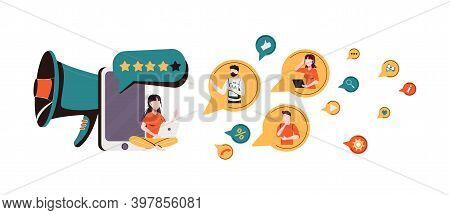 Brand Advocate Abstract Concept Vector Illustration. Brand Attorney, Digital Marketing, Internet, Tr