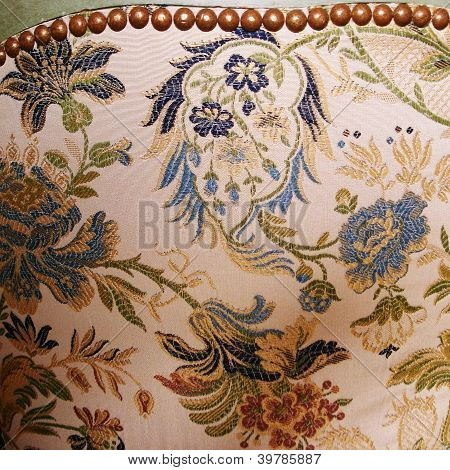 Antique Brocade Chair Covering
