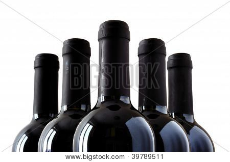 Bottles Of Fine Italian Red Wine