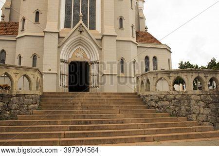 Jau / Sao Paulo / Brazil - 02 21 2020: Mother Church Of Our Lady Of Patronage (nossa Senhora Do Patr