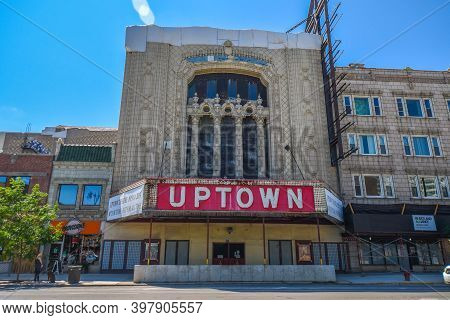 August 4th, 2020, Chicago, Il Uptown Theater Exterior Front Entrance