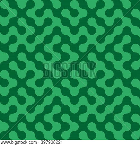 Meta Balls Seamless Pattern. Abstract Textile Print. Vector Illustration.