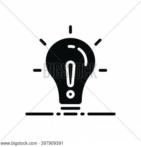 Black Solid Icon For Except Lightbulb Concept Creativity Object Exclude Denigration