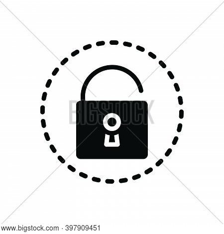 Black Solid Icon For Reveal Unlock Confidential Access Insecure Declare Uncover Privacy Fraud Show T
