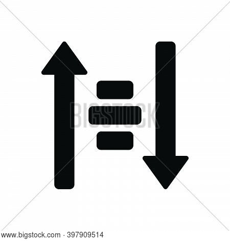 Black Solid Icon For Sort Filter Arrow Descending Down Direction Ascending Alignment Category Classi