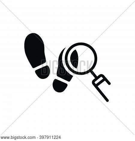 Black Solid Icon For Trace Footprint Indication Hint Imprint Soles Shoes Search Find-the-source-of F