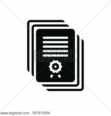 Black Solid Icon For Subsequent Following Successive Next Sequent Document Files