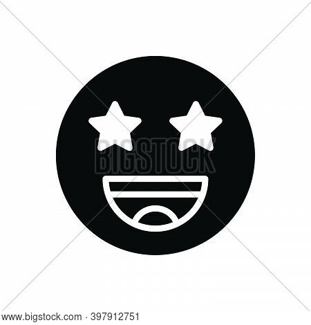 Black Solid Icon For Exciting Wow Cheerful Excitement Expression Funny Happy Emoji Provocative Flash