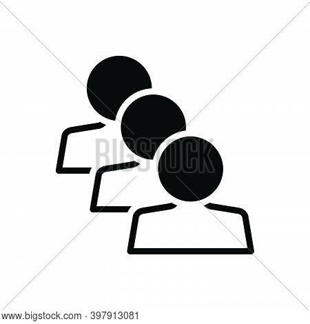 Black Solid Icon For Similar Identical Equal Parallel Equivalent People Adult Same