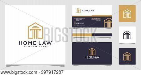 Home Law Firm Logo Vector Design Logo Premium