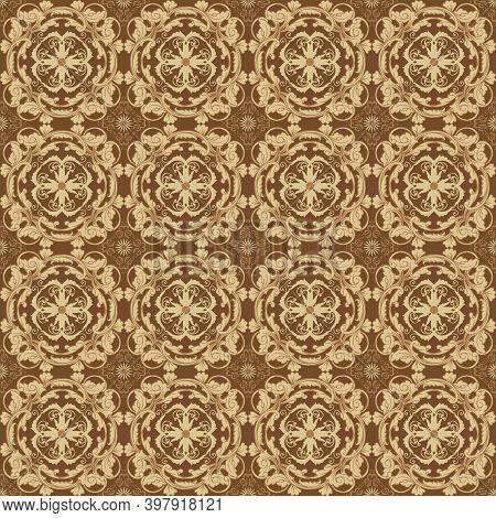 Good Flower Motifs Design On Bantul Batik With Smooth Blend Color Concept.