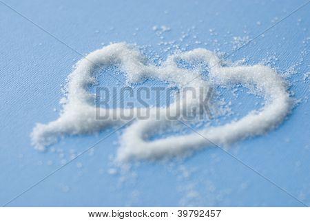 two sugar hearts