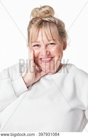 Size inclusive white sweater women's fashion