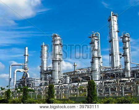 Petroleum Plant With Blue Sky