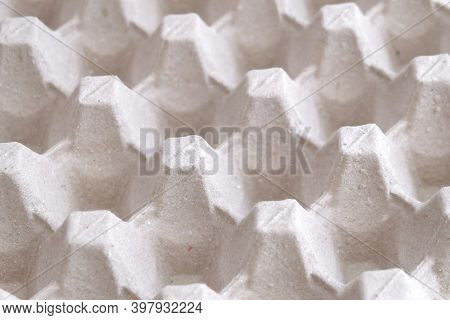 In Selective Focus A Paper Carton Box For Raw Eggs For Background Backdrop
