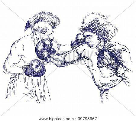 Combate de boxeo - Guerreros