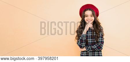 After Visit To Hairdresser. Fashion. Happy Teen Girl In Uniform. Back To School. Small Girl Stylish