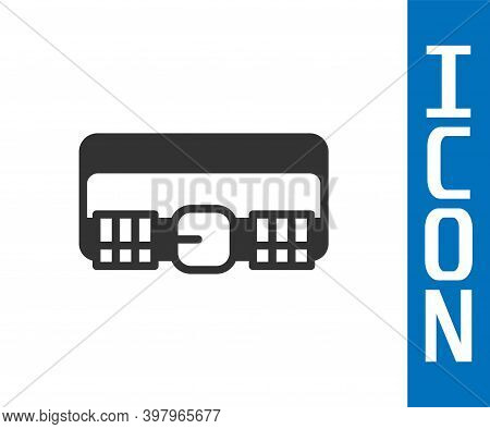 Grey Hunting Cartridge Belt With Cartridges Icon Isolated On White Background. Bandolier Sign. Hunte