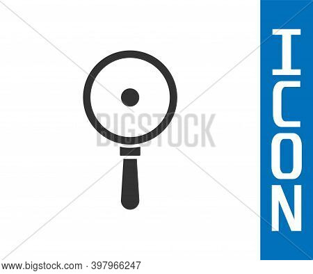 Grey Frying Pan Icon Isolated On White Background. Fry Or Roast Food Symbol. Vector