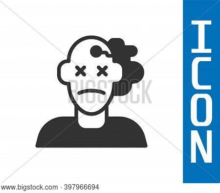 Grey Murder Icon Isolated On White Background. Body, Bleeding, Corpse, Bleeding Icon. Concept Of Cri