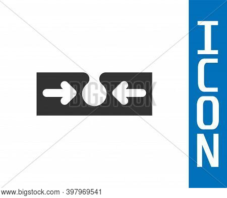 Grey Acne Icon Isolated On White Background. Inflamed Pimple On The Skin. The Sebum In The Clogged P